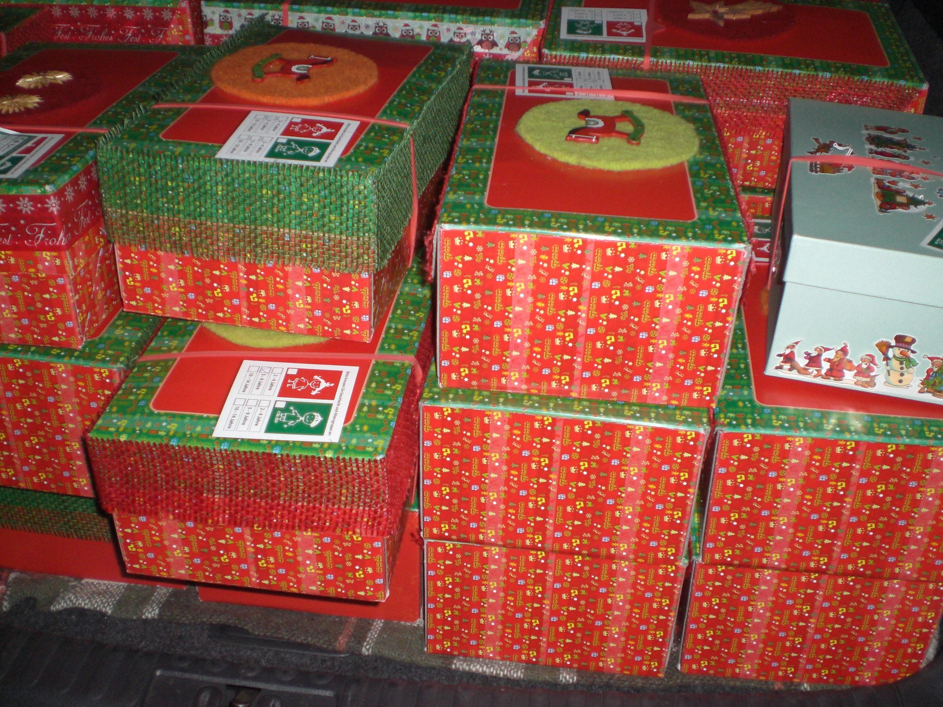 Weihnachtspäckchenaktion hat begonnen