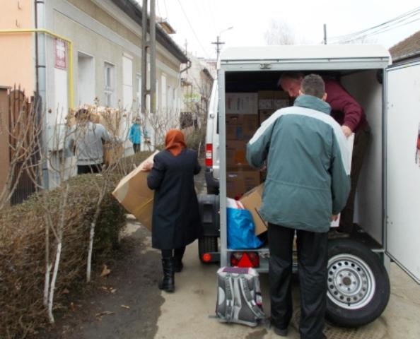 Ausladen bei Caritas